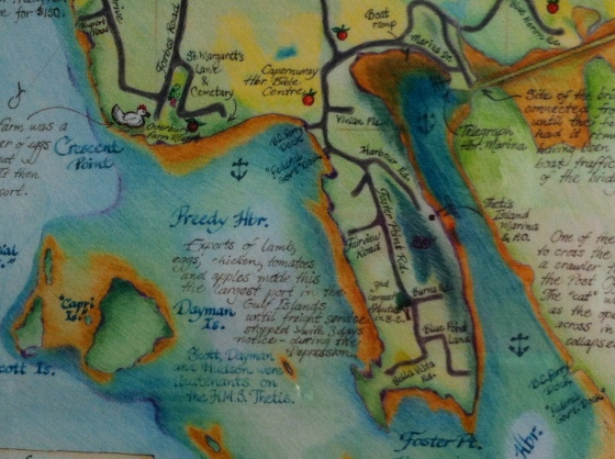 Illustrated Map of Thetis Island